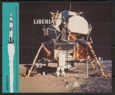Liberia - 1989 - Bloc Feuillet BF N°Yv. 121 - Homme Sur La Lune - Neuf Luxe ** / MNH / Postfrisch - Afrika