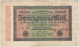 Alemania - Germany 20.000 Mark 20-2-1923 Pk 85 A Ref 22 - 20000 Mark
