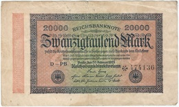 Alemania - Germany 20.000 Mark 20-2-1923 Pk 85 B Ref 69-6 - [ 3] 1918-1933 : República De Weimar