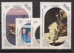 Liberia - 1989 - N°Yv. 1128 à 1131 - Homme Sur La Lune - Neuf Luxe ** / MNH / Postfrisch - Afrika