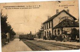 CPA St-BONNET-le-CHATEAU - Un Train De BONSON En Partance (210986) - Altri Comuni