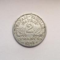 2 Francs Münze Aus Frankreich Von 1943 (sehr Schön) - I. 2 Francs