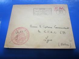 PRIVAS 1958 Lettre F.M-Guerre D'Algérie Cachet Militaire Commandant Subdivision Privas☛Capitaine CoMDt C.T.A.C 691 LYON - Guerra D'Algeria