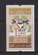 EGYPT, 2019, MNH, LABOUR DAY, WORKERS, MAY 1st,  1v - Celebrations
