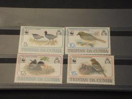 TRISTAN DA CUNHA - 1991 WWF UCCELLI 4 VALORI  - NUOVI(++) - Tristan Da Cunha