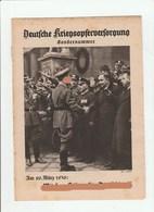 Deutsche Kriegsopferversorgung, Sondernummer März 1936, Magazines For Frontsoldiers WW1, NSKOV - Hobby & Sammeln