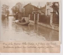 CRUE DE LA MARNE VILLA SHAKEN A ST SAINT MAUR DES FOSSES HABITANTS  18*13CM Maurice-Louis BRANGER PARÍS (1874-1950) - Lugares
