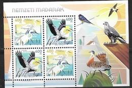 HUNGARY, 2019, MNH, BIRDS, EUROPA 2019,   SHEETLET OF 4v - 2019