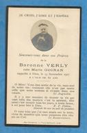 GENEALOGIE FAIRE PART DECES   NOBLESSE BARONNE VARLY GOIRAN - Décès