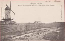 Spaanse Omwalling Moulin Pres De La Porte De Lillo Windmolen Windmill Antwerpen Anvers En 1860   (zeer Goede Staat) - Antwerpen