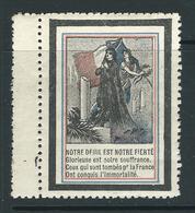 VIGNETTE PATRIOTIQUE époque DELANDRE -  Poster Stamp - Cinderellas War - WWI WW1 Cinderella 1914 1918 - Commemorative Labels