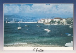 Postcard Postira Otok Brac PU 1996 With Euro 96 Football Stamp My Ref  B23701 - Croatia