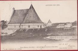 Spaanse Omwalling Antwerpen Anvers En 1860 Tour Bleue Blauwe Toren Avenue Des Arts  (zeer Goede Staat) - Antwerpen