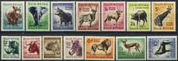 SOUTH AFRICA 1954 Wildlife Kruger Park Elephant Giraffe Etc Definitives Animals Fauna MNH - Timbres