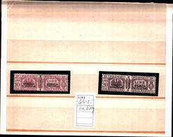 6655B) ITALIA -10L+20L. Pacchi Postali Tipo Fascio Littorio, Soprastampa Del Primo Tipo - 1928-MLH*-FIRMATI RAYBAUDI - Somalia