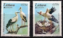 "LITUANIA/ LITHUANIA/ LITAUEN/ LITUANE/ EUROPA 2019 -NATIONAL BIRDS.-""AVES - BIRDS - VÖGEL -OISEAUX""- SERIE De 2 V. - 2019"