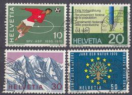 HELVETIA - SUISSE - SVIZZERA - 1970 - Serie Completa Usata Formata Da 4 Valori: Yvert 864/867. - Usati