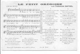 LE PETIT GRÉGOIRE PARTITION Musique Chanson Botrel Bretagne - Musica E Musicisti