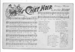 LE CHAT NOIR  PARTITION Musique Chanson Aristide Bruant - Musica E Musicisti