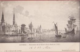 Antwerpen Anvers Panorama De La Ville Et De La Rade En 1530 (in Zeer Goede Staat) 1903 - Antwerpen