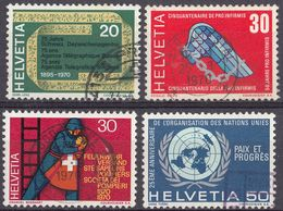 HELVETIA - SUISSE - SVIZZERA - 1970 - Lotto Di 4 Valori Usati: Yvert 850/853. - Usati