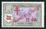 INDE ßurcharge «Croix De Lorraine Et FRANCE LIBRE»  16 Ca Sur 3R Maury  255  ** - Inde (1892-1954)