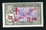 INDE ßurcharge «Croix De Lorraine Et FRANCE LIBRE» 15 Ca Sur 3R  Maury  254 ** - Indien (1892-1954)