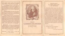 """0698 """"VENERABILE PADRE IGNAZIO DA SANTHIA' - IL CAPPUCCINO SANTO DEL MONTE DI TORINO"""" IMM. REL. ORIG. - Devotion Images"""