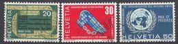 HELVETIA - SUISSE - SVIZZERA - 1970 - Lotto Di 3 Valori Usati: Yvert 850, 851 E 853. - Usati