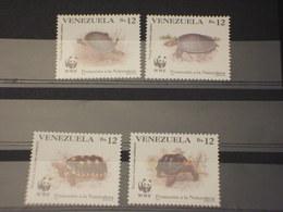 VENEZUELA - 1992 WWF TARTARUGHE 4 VALORI - NUOVI(++) - Venezuela