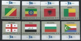 UN-New York. Scott # 1150-57 MNH. Nation Flags 2017 - New York – UN Headquarters