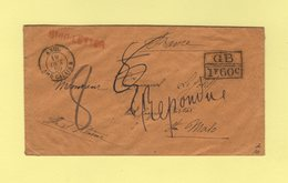 Marque D'echange GB 1f60c - Ship Letter - Entree Angl. Ambulant Calais 19 Oct 1859 - Taxe Corrigee - Sans Correspondance - Schiffspost