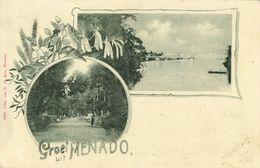 Indonesia, CELEBES SULAWESI MANADO, Bridge, Road Scene (1899) Postcard - Indonesië