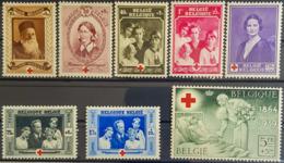 BELGIUM - MLH - Sc# B233 - B240 - 1918 Rotes Kreuz