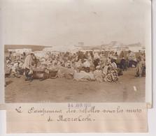 MARRAKECH MAROC CAMPEMENT DES REBELLES SOUS LES MURS  18*13CM Maurice-Louis BRANGER PARÍS (1874-1950) - Africa