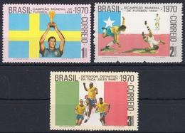 Brasilien 1262/64 **, Fußballweltmeisterschaft - Brasilien