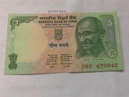 India 5 Rupees Gandhi 2010 Uncirculated Banknote - India