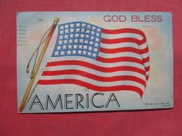 Flag  God Bless America      Ref    3555 - Patriottisch