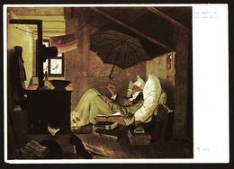 Carl Spitzweg  -  Der Arme Poet  -  Ansichtskarte Ca. 1957  (11584) - Malerei & Gemälde