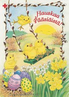 Postal Stationery - Chicks Having Fun - Eggs - Happy Easter - Red Cross 1998 - Suomi Finland - Postage Paid - Finlande