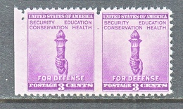 U.S.  901   **  PART  PERFS.    FOR  DEFENCE - Errors, Freaks & Oddities (EFOs)