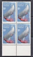 Australian Antarctic 1973 Food Chain $1 Sperm Whale Block Of 4 MNH - Unused Stamps