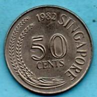 R13/ SINGAPORE  50 Cents 1982 - Singapur