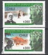 Chile Mnh ** 1999 Set Animals Penguins Lama Eagle - Chili