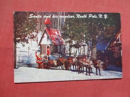 Santa & His Reindeer  North Pole    - New York >  Ref    3556 - NY - New York