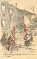 """☺♦♦ GUERRE 14 Par POULBOT """" Et Les Momes Boches Ils Embrassent Leur Père ? """" - ENFANTS De POILUS - War 1914-18"""