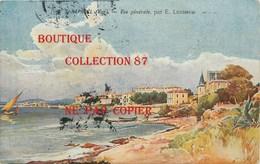 ☺♦♦ 83 - SAINT RAPHAEL Par LESSIEUX < VUE GENERALE AQUARELLEE - AQUARELLE - Saint-Raphaël