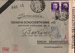 ! 1943 Carbonia, Cagliari, Brief Mit OKW Zensur, Censure, Censor, Censura, Berlin, Siemensstadt - 4. 1944-45 Social Republic