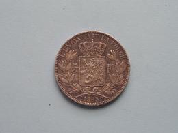 1865 - 5 Francs ( KM 17 ) Uncleaned ! - 1831-1865: Leopold I
