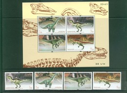 Thailand - 1997 - Dinosaurs Prehistoric - Set + S/S, MNH** - Stamps